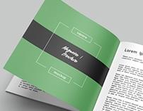 Square Brochure / Magazine Mockup