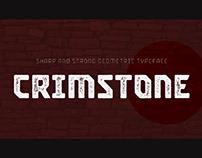CRIMSTONE - FREE BOLD GEOMETRIC FONT