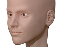 Human head sculpt and modelling practice in blender