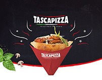Studio logo per Tascapizza - Brandidentity