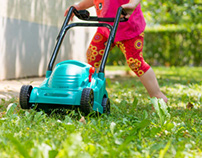 Fun Play Lawn Mowers for Little Gardeners