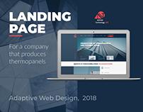 Landing page for company/адаптивный