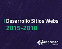 Sitios Web 2015 - 2018
