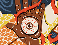 Hand & Snake Illustration