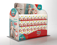 Pampers In-store branding in Cinema4d