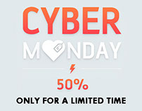 CYBER MONDAY 50% DISCOUNT on TEMPLATES & THEMES