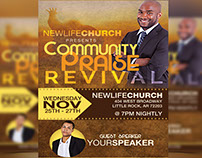 Community Praise Revival Flyer Template