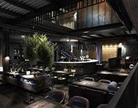 CGI:Restaurant Visualization(reference: belenko.design)