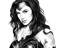 Digital Art: Gal Gadot as Wonderwoman