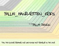 Yallai handwritten erifs