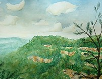 Cloudland Canyon Watercolor Studies