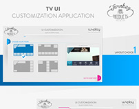 TV UI customization web application
