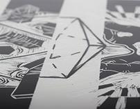 Escher inspired linocuts