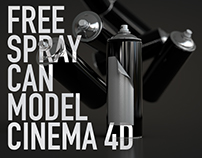 CINEMA 4D | FREE SPRAY CAN MODEL
