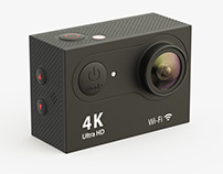 Action Camera. High detail 3d model render.