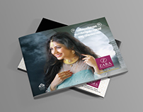 Horizontal Booklet design for Zara Gold, Edappal