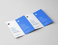 Free 4-fold leaflet mockup
