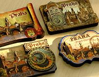 souvenir cards, magnets