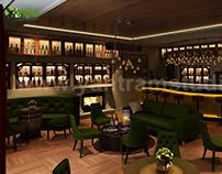 Bar & Restaurant interior design by Yantram Studio