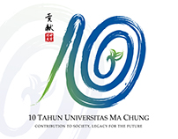 Ma Chung University 10th Anniversary Logo