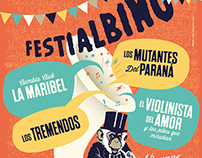 Diseño poster festival Festialbino
