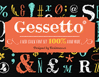 Gessetto an extensive chalk font Family
