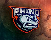 FOR SALE. Rhino sports logo concept