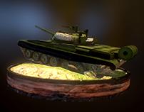 T-72M - lowpoly