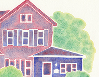 Watercolor house