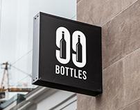 99 Bottles - Logo Design for a Bar & Bottle Shop.