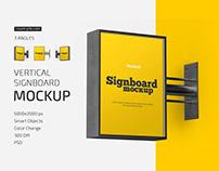 Vertical Signboard Mockup Set