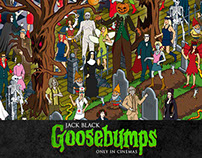 Goosebumps Film Where's The Creature? Game Illustration