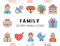 Family Vector Free Icon Set
