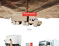 Removal company website  / Firma przeprowadzkowa