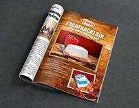 Commercial work; magazine ads for President brand