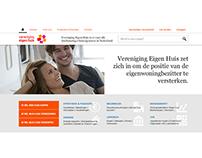 Vereniging Eigen Huis - website design