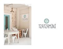 Tzatzamini Restaurant - Bar || Logo Design