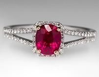 1.28 Carat Ruby Ring