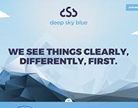Web design for deepskyblue.com