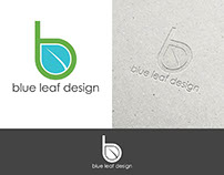 Blue Leaf Logo Design