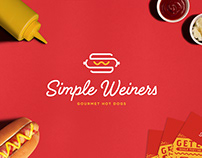 Simple Weiners Hot Dog Restaurant Logo & Branding