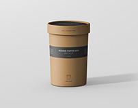 Round Paper Box Mockup - Large