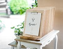Dolce Vita Summer Menu Wood Set