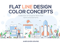 Modern Flat Line design people and Business concepts