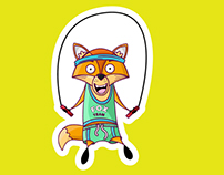 DARWIN THE FOX STICKER PACK IOS