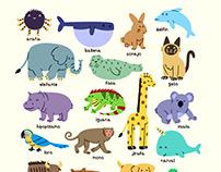 Alfabeto Animal — Alphabet Poster