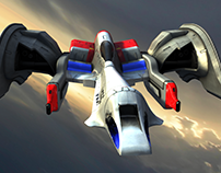 Galaga Ships (1st time using Marmoset PBR workflow)