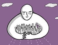 Illustration journal de «vivre Carouge»