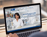 Website for pharmaceutical company