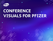 Conference visuals for Pfizer